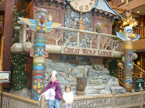 Great Wolf Lodge: kids loved that clock show