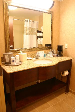 Hampton Inn Leesburg - Tavares: Large bathroom with plush towels and amenities galore.