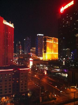 Signature at MGM Grand: balcony at night