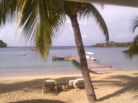 The Inn at English Harbour : vista dalla ns.cabana