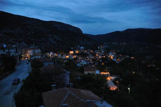 Pension Karacan: View from the hotel by night