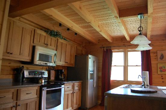 Telliquah Falls Log Cabins: kitchen 1st floor