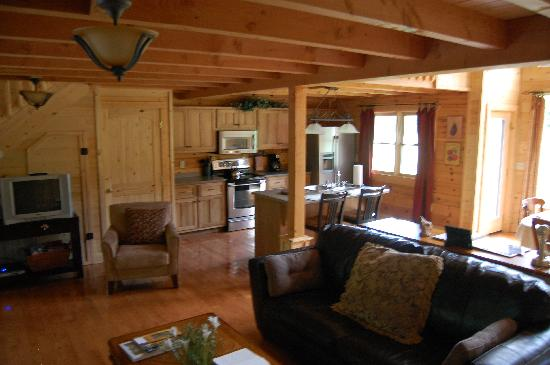 Telliquah Falls Log Cabins: sitting area near kitchen 1st flr