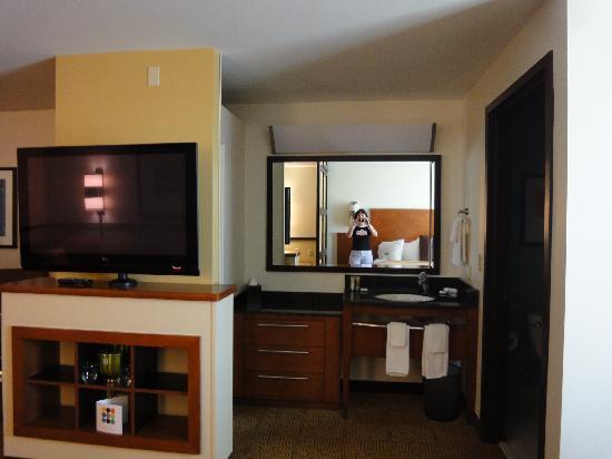 Hyatt Place Phoenix/Mesa: flat screen and dressing area