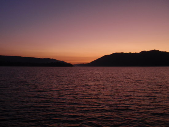 Peppercorn Grille : Sunset over Big Bear Lake