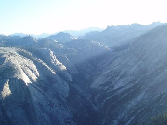 Lasting Adventures: View of Yosemite Valley while descending the sub dome of Half Dome