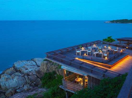 Dining on the Rocks - Outdoor Area