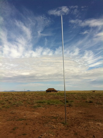 Quemado, Nuevo Mexico: lightning rod in the afternoon