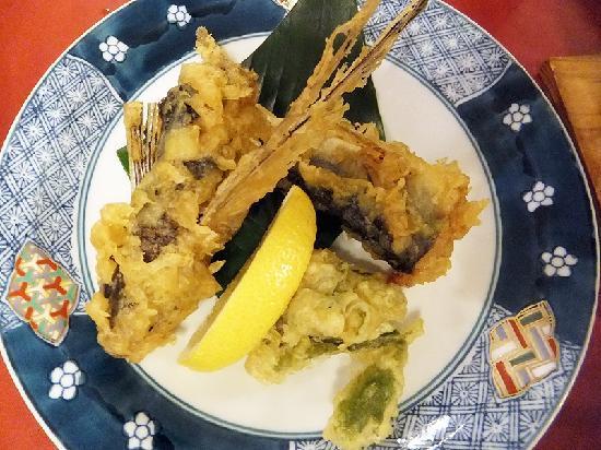 Yakushima Green Hotel : 夕食 トビウオの天ぷら