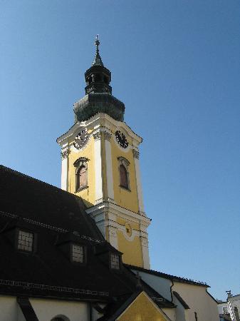 Stadtpfarrkirche Gmunden: Turm der Stadtpfarrkirche