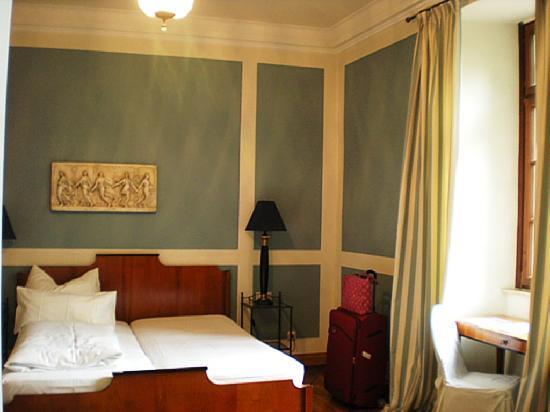 Hotel Schloss Lehen: This is how half of my room looked.