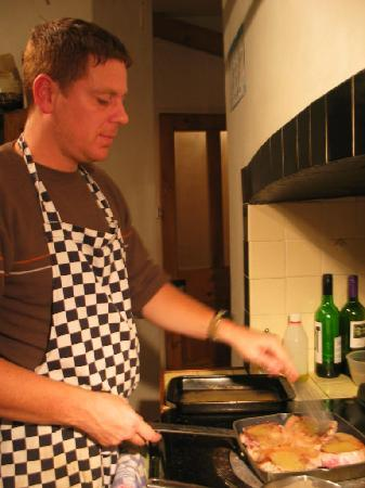 The Old Rectory on the Lake: Ricky preparing our food - after shock