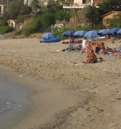 La spiaggia dell'hotel Ulisse