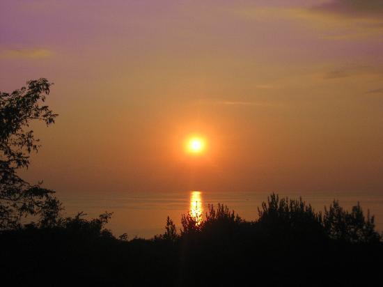 Hotel Ulisse: Un tramonto visto dalla camera 31