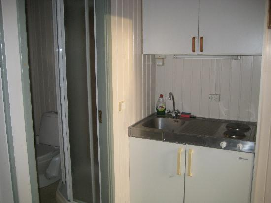Gesthus Selfoss : Kitchenette with equipments
