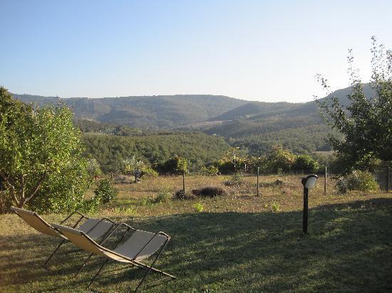Agriturismo Podere Lamberto: Blick vom Pool in die Hügel