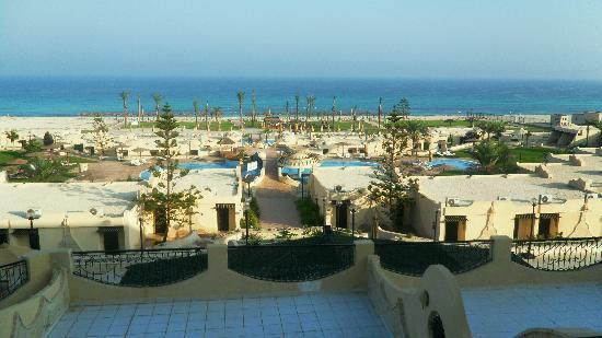 Borg El Arab, Egipto: Vue du balcon au 2ème étage