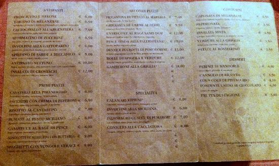 Expanificio: menu