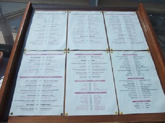 menu picture of la maison imerovigli tripadvisor