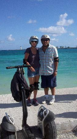 Nassau Segway Beach and Waterfront Tour: mike and me mugging for the camera