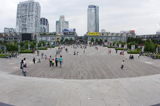 Tianyi Square: Tian Yi Square courtyard. I needed a lens with a 180 degree field of view to capture this!