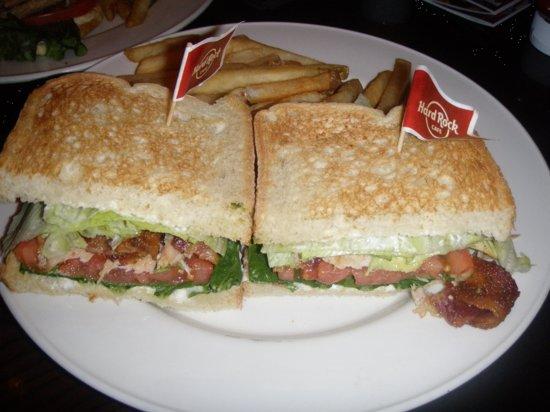Hard Rock Cafe Honey Mustard Grilled Chicken Sandwich