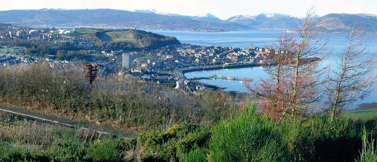 Greenock, UK: Looking toward Gourock & Dunoon beyond....