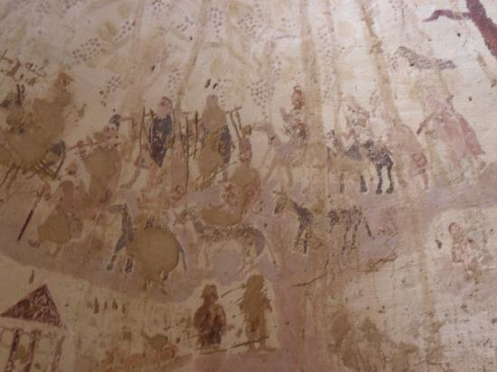 Necropolis of Al-Bagawat: Exodus painting at al-Bagawat