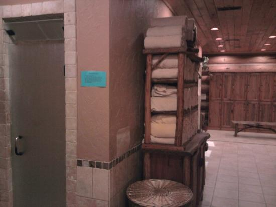 Serenity in the Mountains Luxury Suites: spa bath and locker area