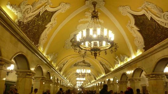 Moscow Metro: Particolare soffitti metro Mosca