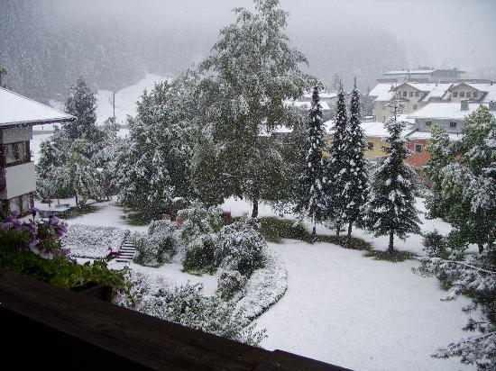 Hotel Sonnalp: en plus nous avons eu droit à la neige
