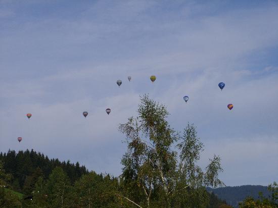 Hotel Sonnalp: en plus le spectacle des ballons