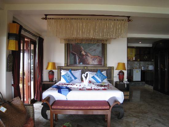 โรงแรมแซนดอลวู้ด ลักซูรี่ วิลล่า: Plumeria Villa - bedroom view