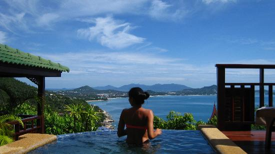 Sandalwood Luxury Villas: Plumeria Villa - private dip pool view