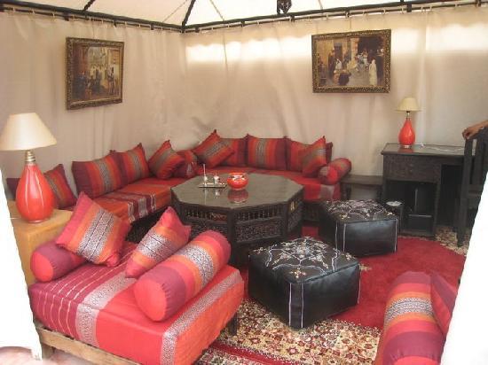 Riad Des Orangers: salon terrasse