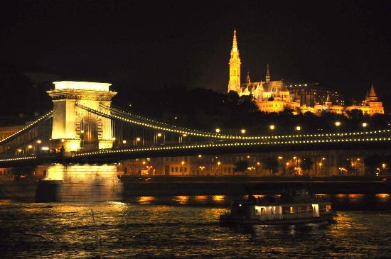 Griff Hotel: Danube at night