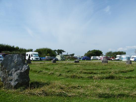 Pitton Cross Caravan & Camping Park: stone circle field