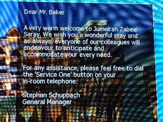 Jumeirah Zabeel Saray: ummmm
