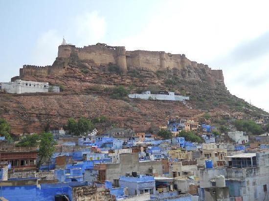Shahi Guest House: vista del forte dalla terrazza