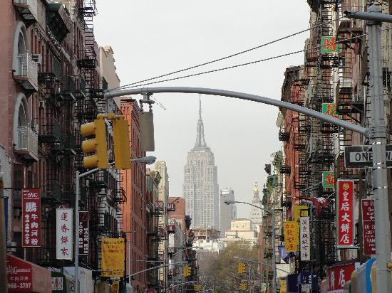New York City, NY: Chinatown's view of the Empire State Building