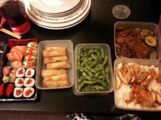 Old Town Malaysian and Sushi Takeaway: our usual selection