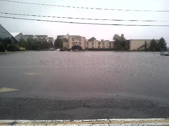 Comfort Inn Parking lot after storm