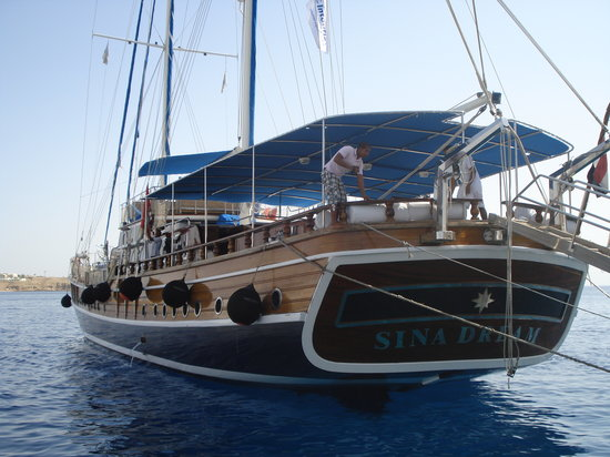 Red Sea Coral Reef Snorkeling at Ras Mohamed National Park with Lunch: sina dream II - a luxuriant boat