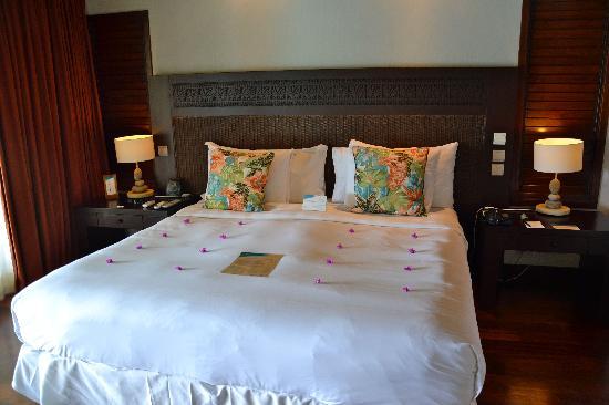 Hilton Moorea Lagoon Resort & Spa: L'arrivée dans la chambre