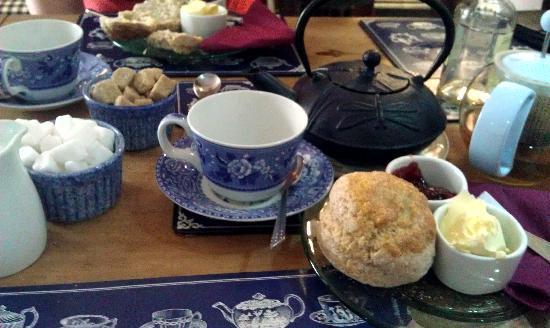 The Courtyard Tea Rooms: amazing tea and scones!
