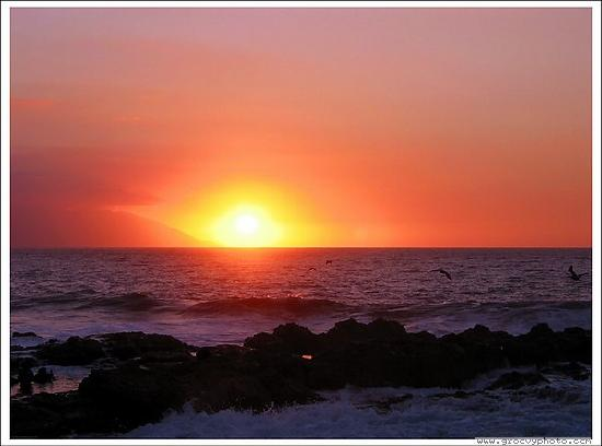 Bugambilia Blanca Vacation House and Condos: Another stunning Puerto Vallarta sunset for you to enjoy