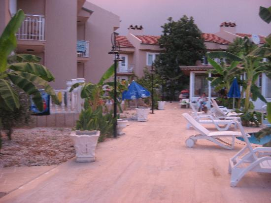 Ozcem Apart Hotel: Pool area