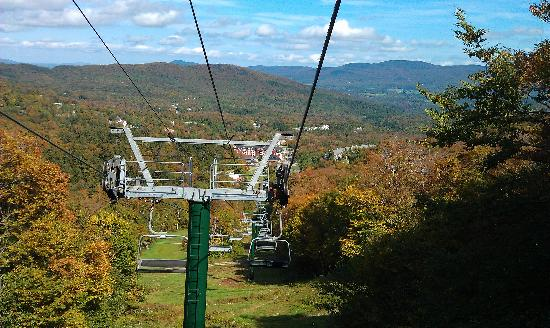 Clay Brook at Sugarbush: view from ride on chair lift