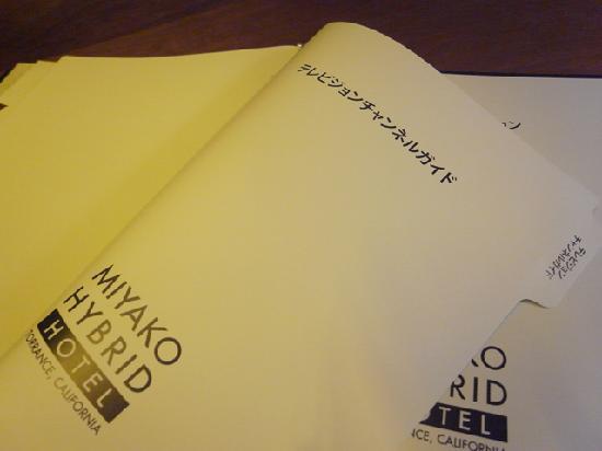 Miyako Hybrid Hotel: テレビの操作説明が無い