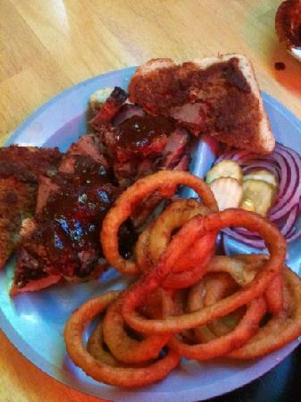 Back Porch Bar & Grill: Beef Brisket BBQ Sandwich - Smoked For Over 12 Hours